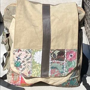 Vintage Addiction Hobo LG Backpack Recycled - NWT